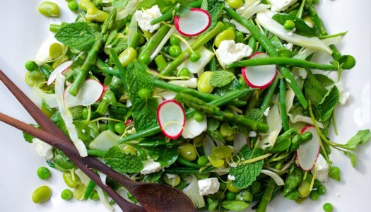 Spring Salad with Feta Cheese, Two Ways