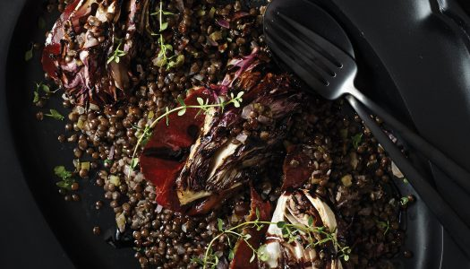 Black Lentils with Radicchio & Speck