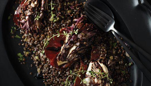 Black Lentils with Radicchio & Speck