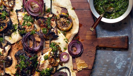Za'atar Grilled Chicken Skewers With Israeli Chimichurri